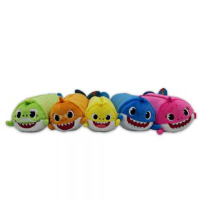 Baby Shark plush pencil cases - 5 characters to collect 22-23cm characters