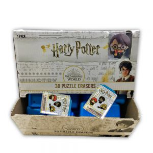 Harry Potter 3D Puzzle Erasers 1pk container blind box.
