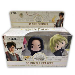 Harry Potter 3D Puzzle Erasers 3pk window box.