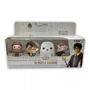 Harry Potter 3D Puzzle Erasers 5pk window box.