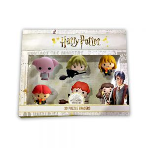 Harry Potter 3D Puzzle Erasers 6pk Deluxe box.
