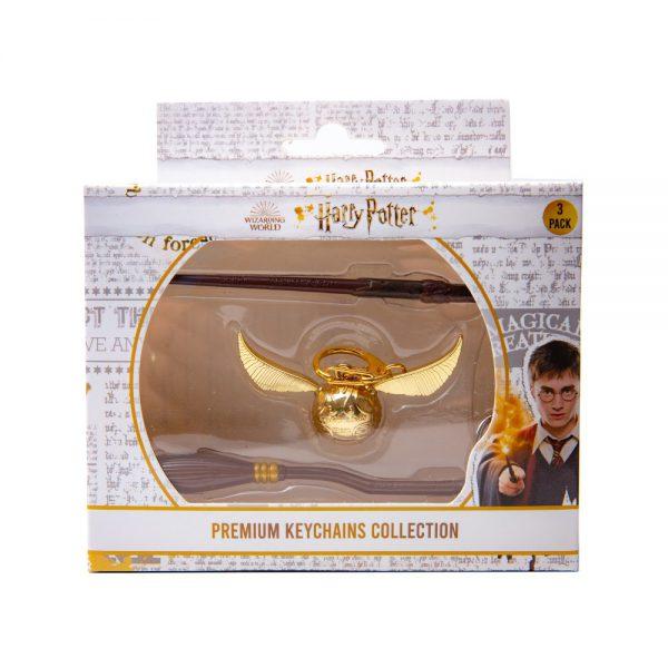 Harry Potter Metal Keychains Premium collection- 3pk Window Box