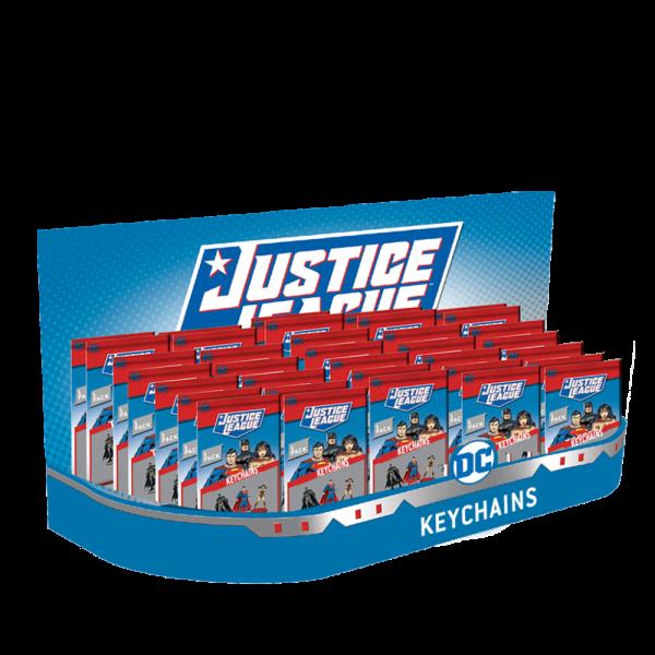Justice League 2D Keychains 1 pcs in transparent window foilbag (S2). 24 pcs in CDU.