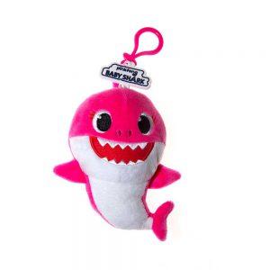 Baby Shark plush coin purse on clip