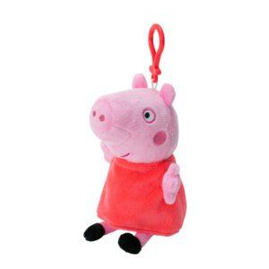Peppa Pig plush coin purse on clip